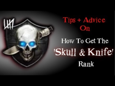 Black Ops 2 Zombies How To Get The Skull With Knife Rank