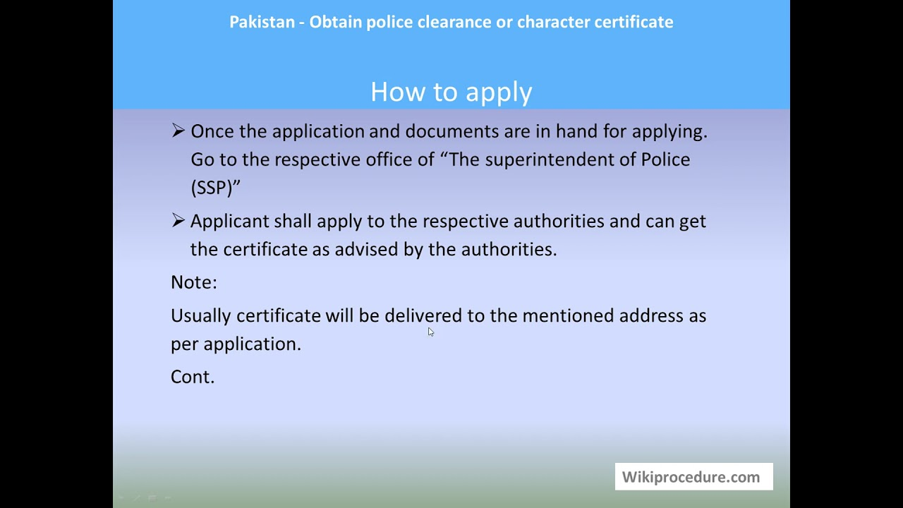 Noc For Travelling Abroad For Government Employees Pakistan
