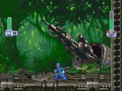 Megaman X4 - Boss 2 - Web Spider (No Damage, No Charge, Buster Only)