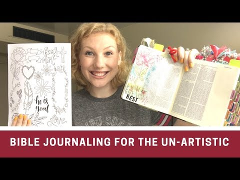 "Bible Journaling When You Are Not ""Artistic"" - 4 Things To Try!"