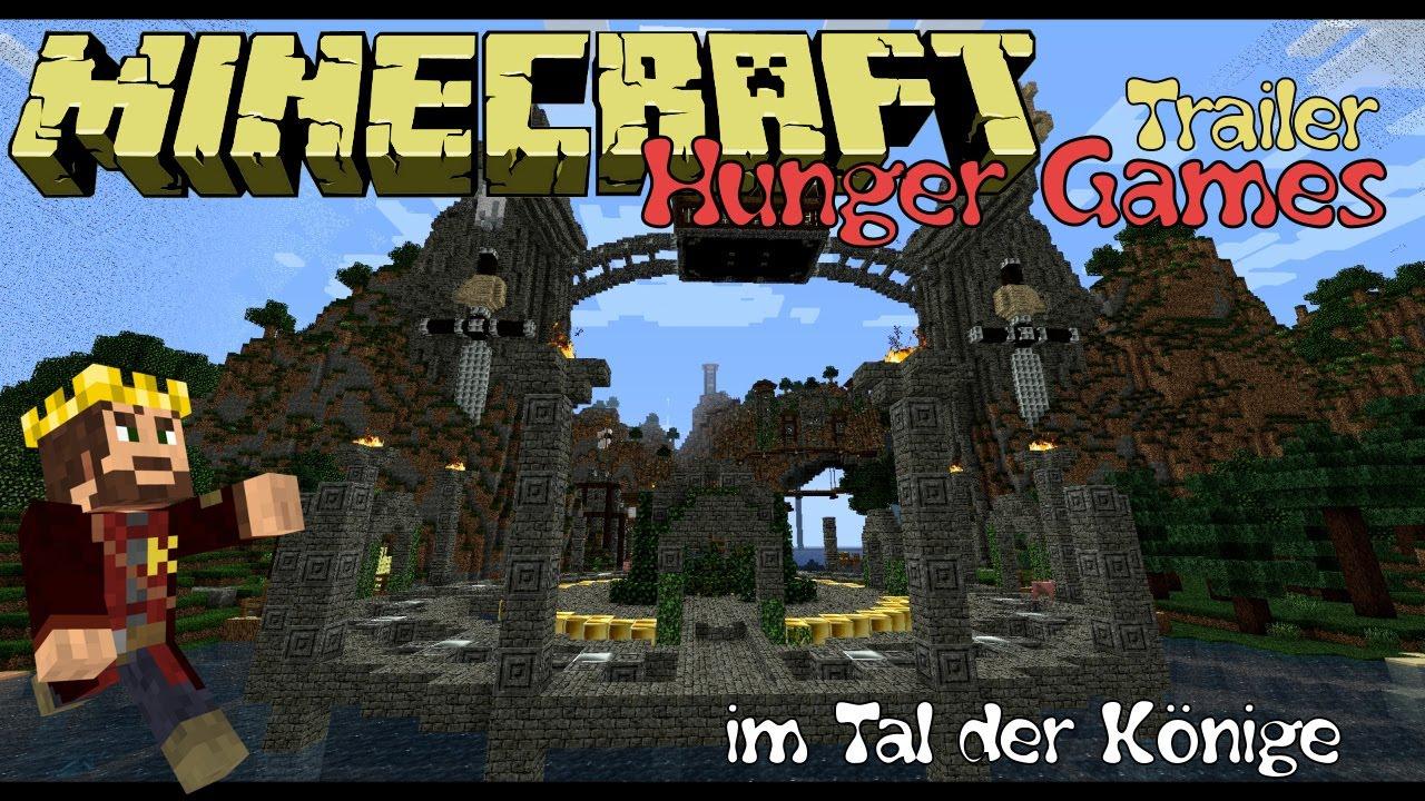 Trailer Minecraft Hunger Games Im Tal Der Könige Auf Der Serverwelt - Minecraft hunger games auf deutsch