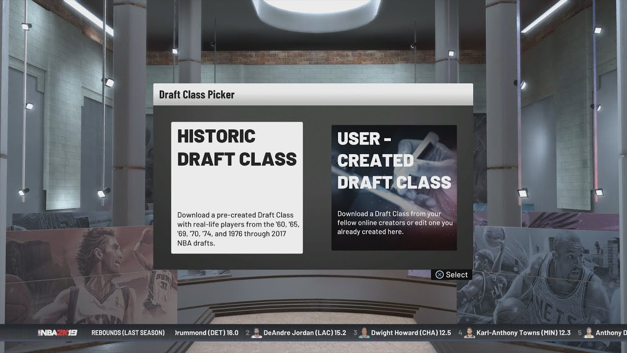 NBA 2K19 - Historical Draft Classes & How They Work