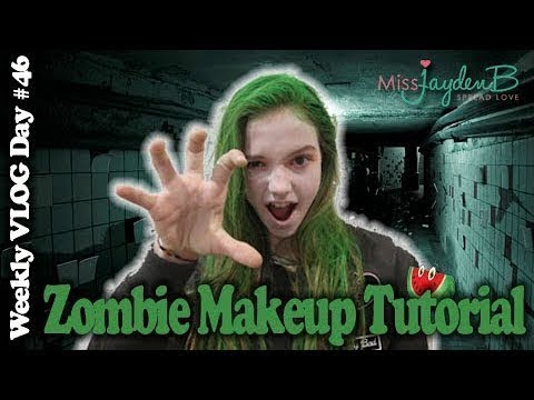 Zombie Makeup and Dance Tutorial   VLOG...