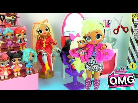 Мультик Куклы ЛОЛ в салоне красоты OMG LOL Surprise Fashion Dolls Распаковка Lady Diva - Видео онлайн