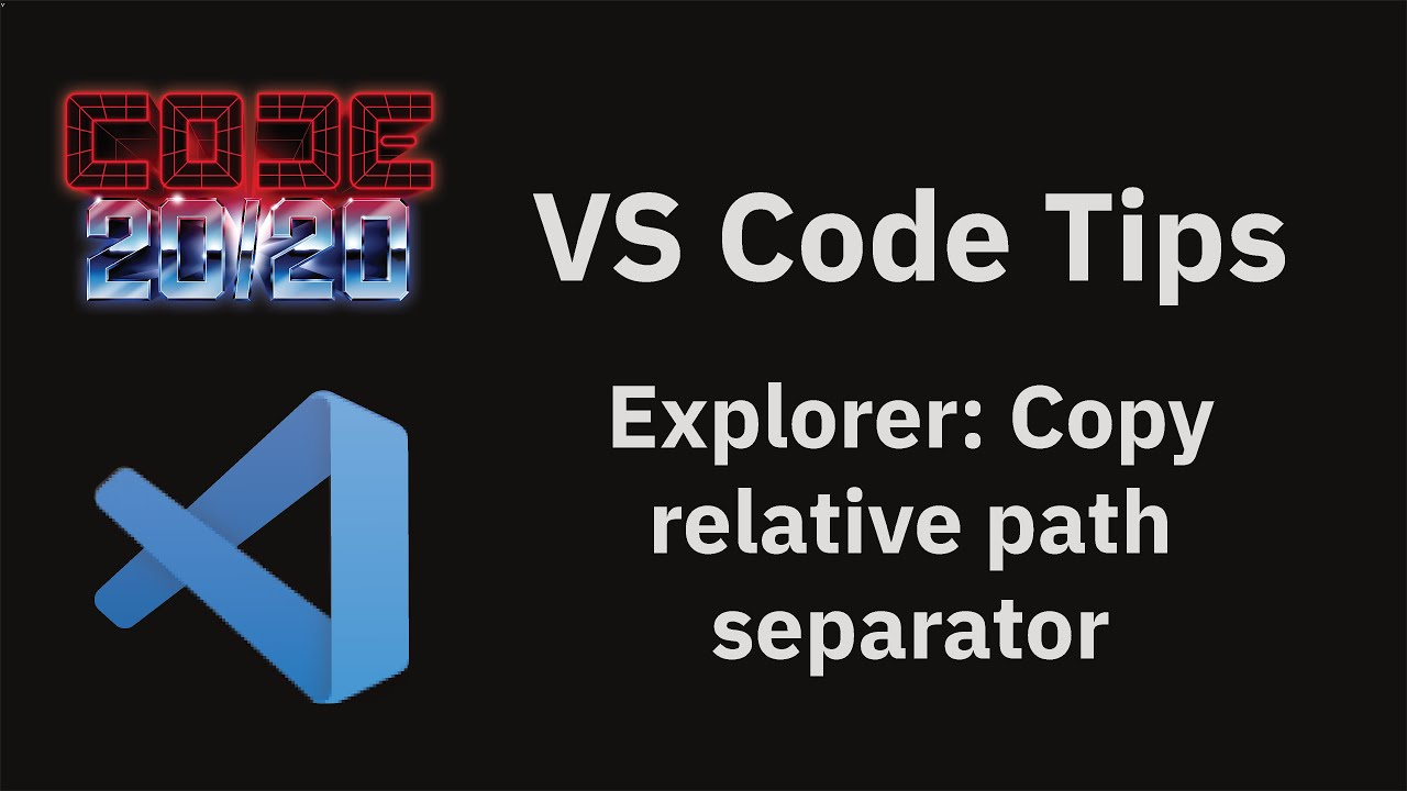 Explorer: Copy relative path separator