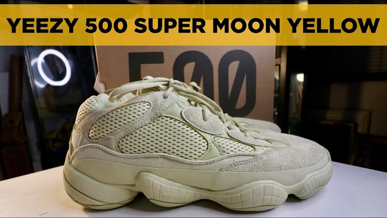 31f6cf132 YEEZY 500 SUPERMOON YELLOW ON-FEET REVIEW - YouTube