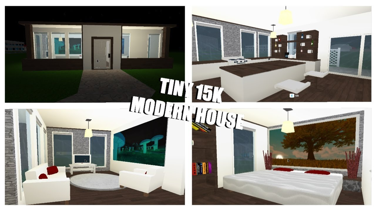 Tiny 15k Modern House Roblox Welocome To Bloxburg