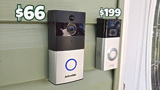 Arkmiido Doorbell [$66] - 720P - 3400mAh - PIR Motion - [Ring 2 Killer?]