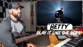 How To Play Betty LIKE TAYLOR SWIFT   REACTION + Guitar Tutorial and CHORDS