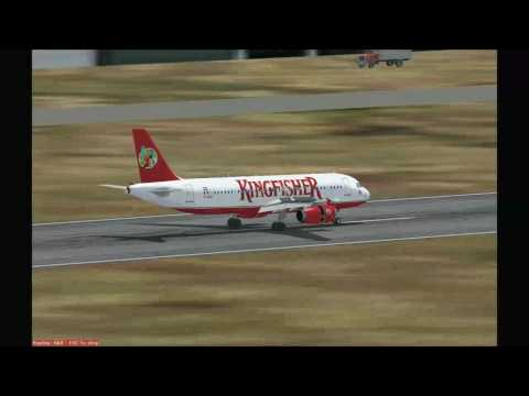Kingfisher Airlines A320 landing in  Delhi