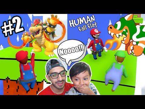 Karim Vs Bowser | Super Mario En Human Fall Flat | Juegos Karim Juega