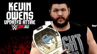 WWE 2K16 Kevin Owens (NEW Fight Owens Fight Attire)