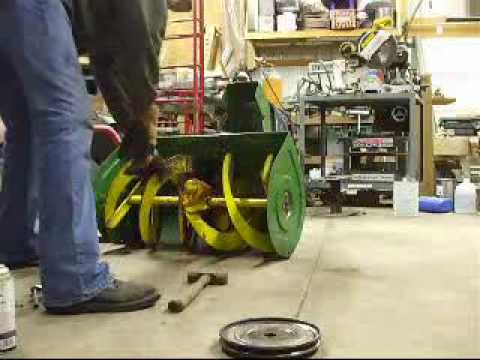 John Deere 1032 Snowblower Repair Modification Video Part 2