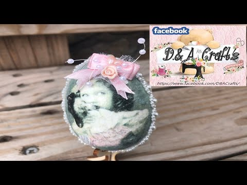DIY: How to make Girl decoupage and decoration on wooden egg for Easter TUTORIAL
