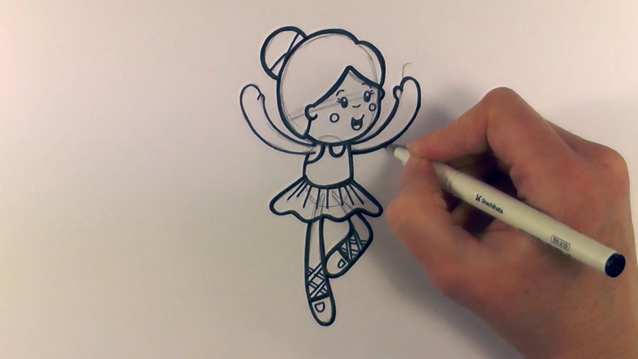 Disegno Ballerini: How To Draw A Cartoon Ballerina