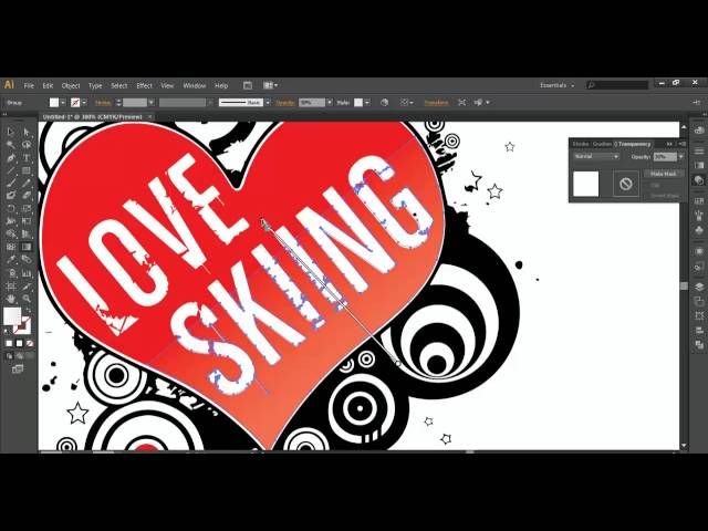 how to REDESIGN vector IMAGE Illustrator cs6