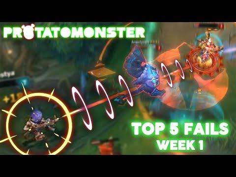 League of Legends Top 5 FAILS Week 1 | Best WTF Funny Moments (Protatomonster LoL 2017)