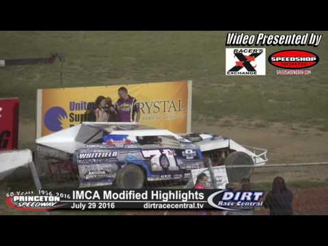 Princeton Speedway 7/29/16 IMCA Modified Highlights