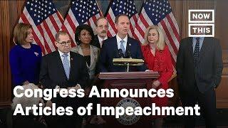Congress Reveals Trump Articles of Impeachment | NowThis