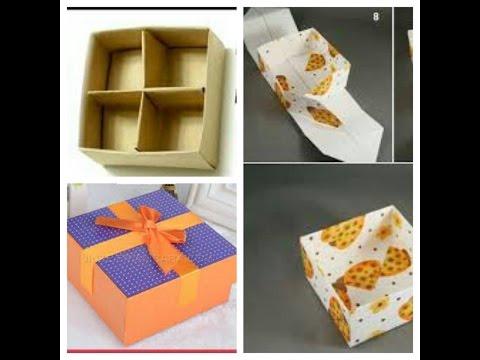 Hướng dẫn gấp hộp đựng đồ 4 ngăn bằng giấy - nhanh