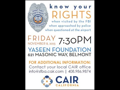 "CAIR | Know Your Rights: ""Zahra Billoo & Yaman Salahi"""