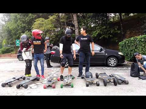 Group Of Electric Skateboard in Malaysia - Christmas Ride