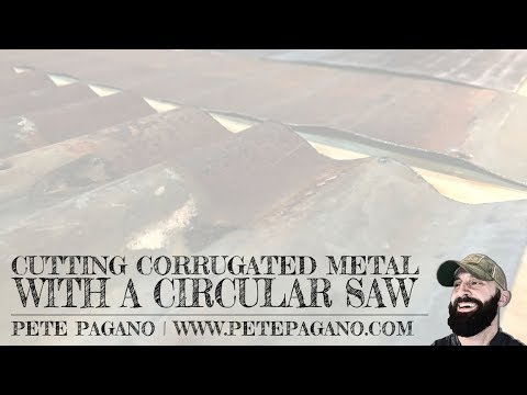 Cutting corrugated metal with a circular saw how to youtube cutting corrugated metal with a circular saw how to greentooth Choice Image
