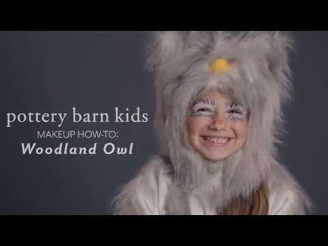 Fun Halloween Makeup Tutorial - Woodland Owl Costume for Pottery Barn Kids
