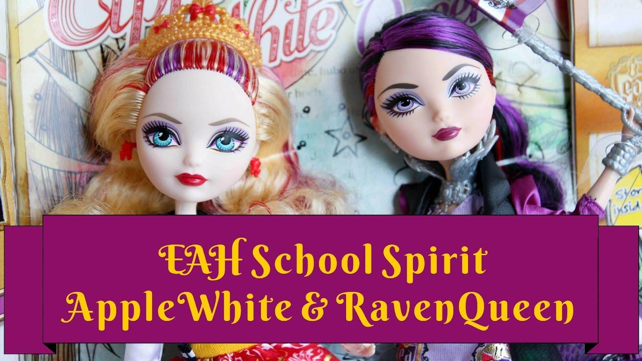 Ever After High Apple White & Raven Queen School Spirit ...