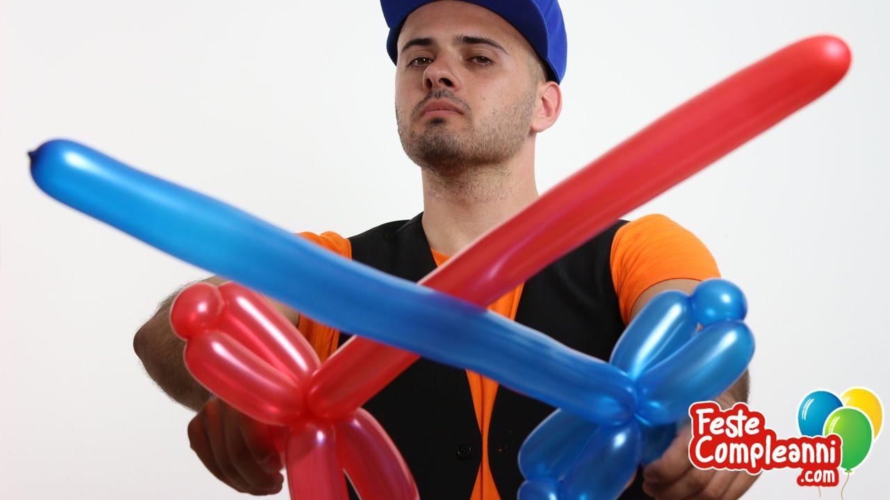 Palloncino Modellabile Spada Del Cavaliere Tutorial 09 Feste