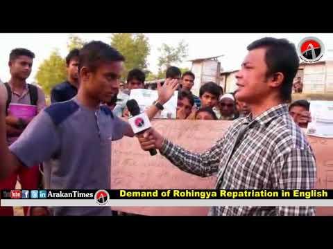 Demand of Rohingya Repatriation in English 17 January 2018
