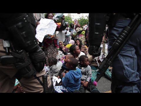 Refugees evicted by police from sit-in outside UNHCR in Cape Town | AFP