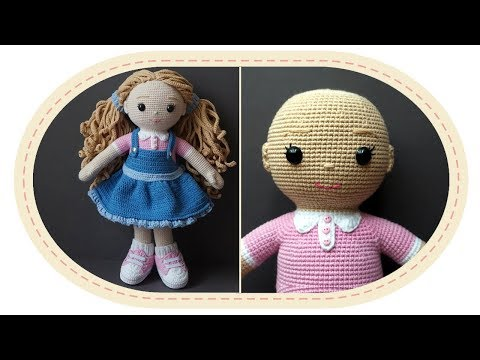видео: Вязаная кукла крючком Розали, часть 7 (Голова). crochet doll rosalie, part 7 (head).