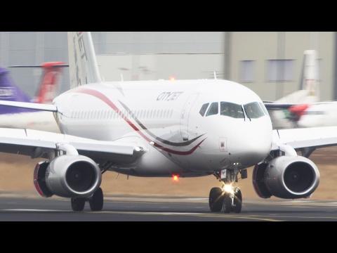 Sukhoi Superjet 100 Landing - First European operator