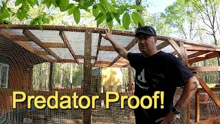 Predator proof the chicken coop!