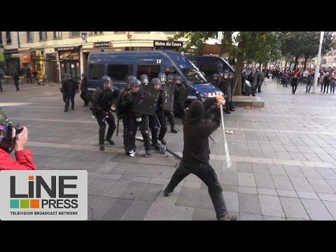 Très violents affrontements manif hommage Rémi Fraisse / Nantes (44) - France 01 novembre 2014