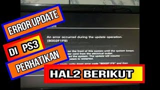 Update error ps3