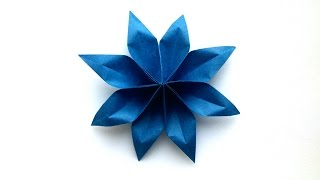 How to make an easy Origami Paper Flower (8 Petal) - Origami Paper Tutorials Flower thumbnail