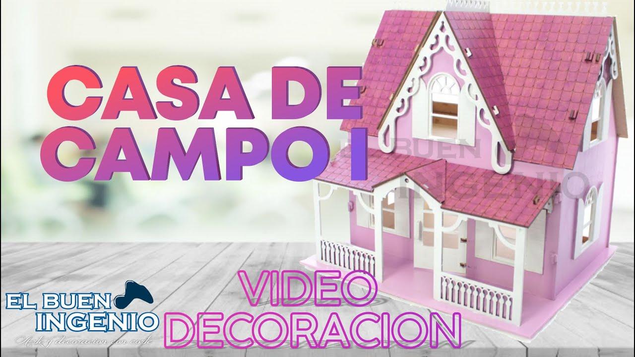 Tutorial De Decoración De Casa De Muñecas Como Pintar Mdf Manualidades Youtube