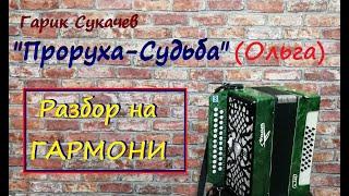Проруха судьба Ольга разбор на гармони  Уроки гармони