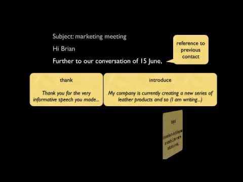 how to write a formal business email in english mp4 youtube