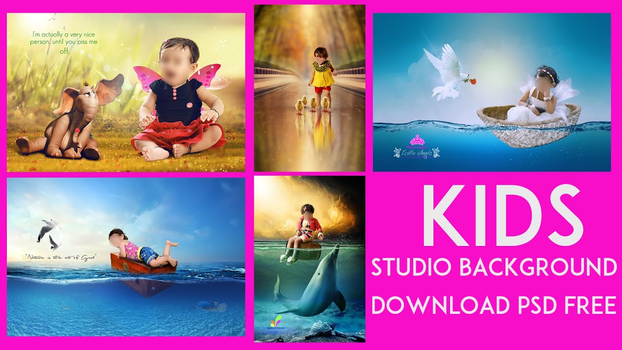 KIDS studio background download psd free - YouTube