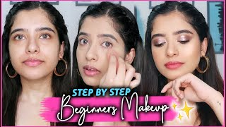 STEP BY STEP MAKEUP FOR BEGINNERS |Anindita Chakravarty