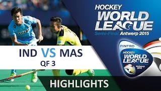 India v Malaysia Match Highlights - Antwerp Men