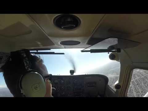 Solo flight over Long Beach