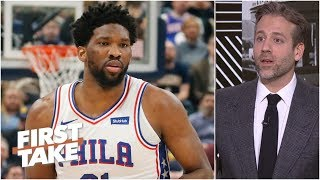 76ers 'insane' to let Joel Embiid play with back injury - Max Kellerman | First Take
