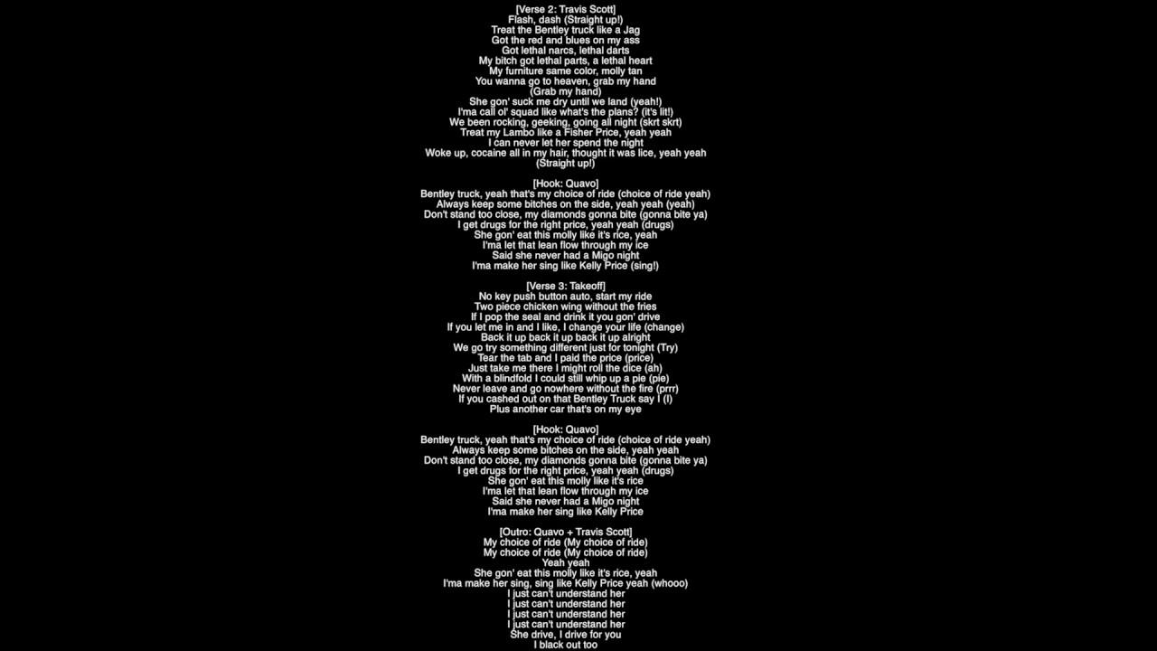 Full Lyrics Kelly Price Migos Featuring Travis Scott Culture Youtube