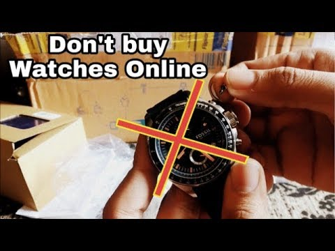 Dont Buy Fossil Watch Online || Fraud || Fossil Chronograph Watch Review