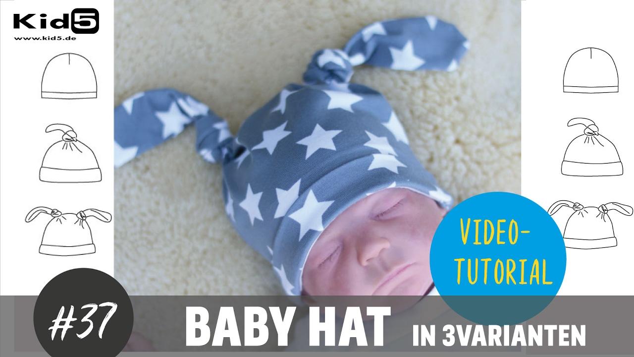 Babymütze in 3 Varianten ganz leicht selber nähen DIY-Näh-Tutorial ...