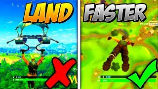 HOW TO LAND FASTER THAN EVERYONE ELSE *GLITCH* ON FORTNITE BATTLE ROYALE